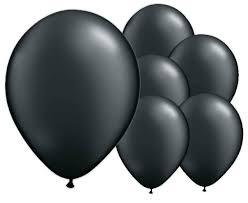 Black Latex Balloons 8 Pack