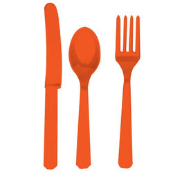 Orange Assoted Cutlery 24 Count