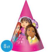 Dora & Friends Cone Hats 8 Count