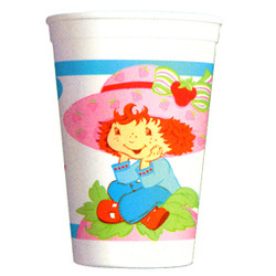 StrawBerry  Party 17 Oz. Plastic Stadium Cup