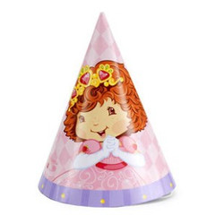 StrawBerry Princess Party Cone Hats 8 Pack