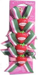 StrawBerry Shortcake PonyTAIL HOLDERS 4 Count