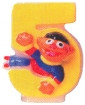 Sesame P is for Party Ernie Age 5 Candle