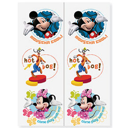 Mickey's Party Temporary Tattoo 2 Sheet