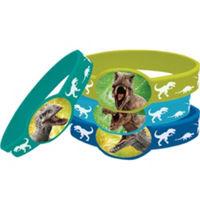 Jurassic World Stretch Bracelets 4 Count
