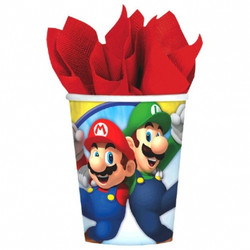 Super Mario Brothers 9oz Cups 8 Count