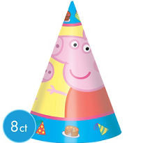 Peppa Pig Party Hats 8ct