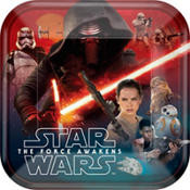 Star Wars Episode VII The Force Awakens Lunch/Dinner Plates 8ct