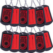 Star Wars Episode VII The Force Awakens Dog Tag Necklaces 12ct