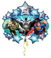 "LARGE SUPERSHAPE JUSTICE LEAGUE MARQUEE 31"" FOIL BALLOON"