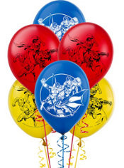 Justice League Latex Balloons 6 count