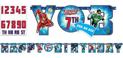 Justice League Birthday Custom Age Banner Kit