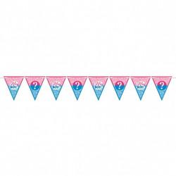 Girl or Boy? Gender Reveal Paper Pennant Banner