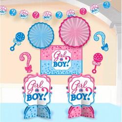 Girl or Boy? Gender Reveal Baby Shower Room Decorating Kit