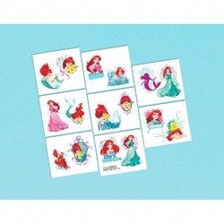 Disney Ariel Dream Big Tattoos 16 pack