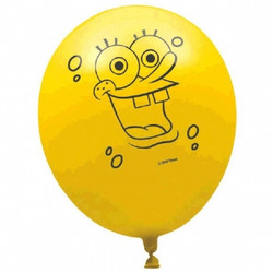 Latex SpongeBob Balloons (6 pack)