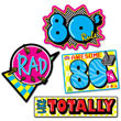 """Awesome 80's Cutouts 13""""-15½"""" (4 pack)"""