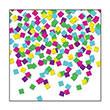 8-Bit Squares Confetti