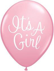 11C IT'S A GIRL CLASSY SCRIPT PINK