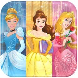 """Disney Princess Dream Big Square Plates 9"""" (8 pack)"""