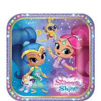 "Shimmer & Shine 7"" Square Plates (8 pack)"