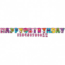 Hello Kitty Rainbow® Jumbo Add-An-Age Letter Banner