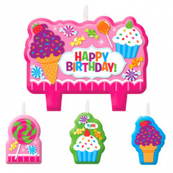 Sweet Shop Birthday Candle Set (4 count)