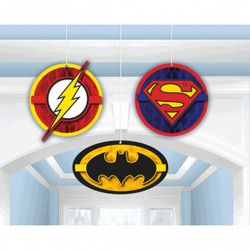 Justice League™ Honeycomb Decorations (3 count)
