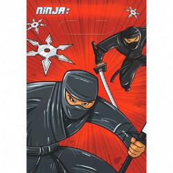 Ninja Folded Loot Bags (8 count)