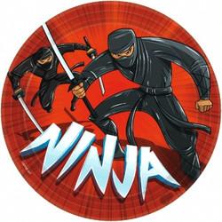 """Ninja Round Plates, 9"""" (8 pack)"""