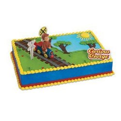 Curious George Train Cake Decorating Set