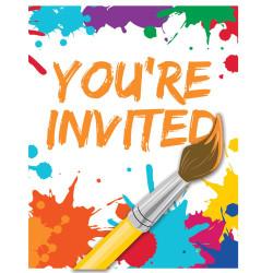 Art Party Invitations (8)