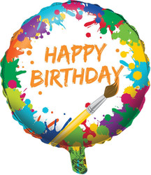 """Art Party Metallic 18"""""""""""""""""""""""""""""""" Balloon"""