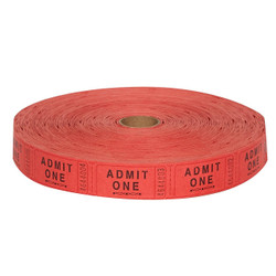 Circus Time Admit 1 Roll Tickets