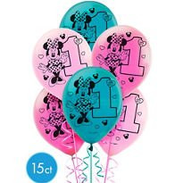 Disney Minnie's Fun To Be One Printed Latex Balloons (15)
