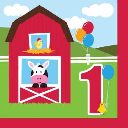 Farmhouse Fun Happy 1st Birthday Lunch Napkins (18)