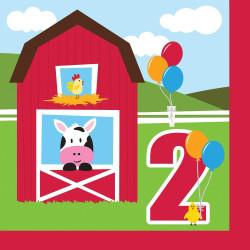 Farmhouse Fun Happy 2nd Birthday Lunch Napkins (18)