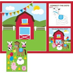 Farmhouse Fun Kids Activity Placemat With Stickers
