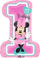 Minnie 1st Birthday Large Shape