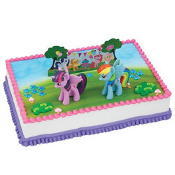 MY LITTLE PONY IT'S A PONY PARTY CAKE DECORATING SET