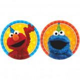 "New Sesame Street 7"""" Round Plates (8)"