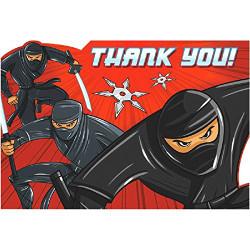 Ninja Postcard Thank You Cards 8 pack
