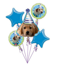 Party Pup Happy Birthday Balloon Bouquet  5 piece