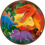 Prehistoric Dinosaurs Metallic Lunch Plates 8ct