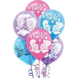 Shimmer and Shine Latex Balloons (6)