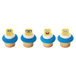 SpongeBob SquarePants Mood Faces Cupcake Rings 12 pack
