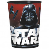 Take a sip from the Dark Side! This Star Wars Favor Cup is perfect for punch, juice, or to fill with party favors. Essential for a Star Wars party, this durable, plastic cup features a wraparound print of Darth Vader and TIE fighters on a red background. Give out Star Wars party favors and treats to your little Jedis in this Star Wars Favor Cup as a fun, reusable gift. Star Wars Favor Cup product details:  16oz capacity 3 1/2in diameter x 4 1/2in tall BPA-free plastic Reusable Not suitable for boiling hot liquids or microwave use Made in USA
