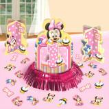 Disney© Minnie 1st Birthday Value Table Decorating Kit