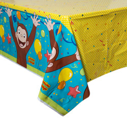 """Curious George Rectangular Plastic Table Cover, 54""""x84"""""""