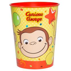 Curious George 16oz Plastic Stadium Cup